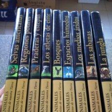 Libros de segunda mano: LOS ANIMALES PROTAGONISTAS DE NUESTRA TIERRA -- 9 TOMOS -- EDICIONES RUEDA 2004 --. Lote 172109554