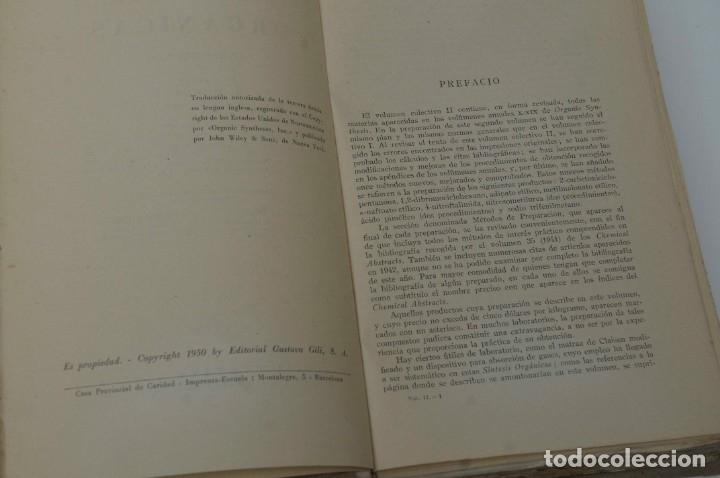 SINTESIS ORGANICA TOMO II G.GILI 1950 (Libros de Segunda Mano - Ciencias, Manuales y Oficios - Física, Química y Matemáticas)