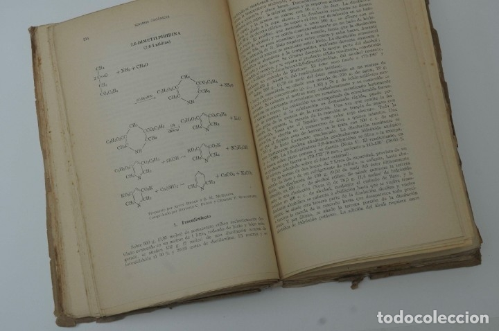Libros de segunda mano de Ciencias: SINTESIS ORGANICA TOMO II G.GILI 1950 - Foto 5 - 172148890