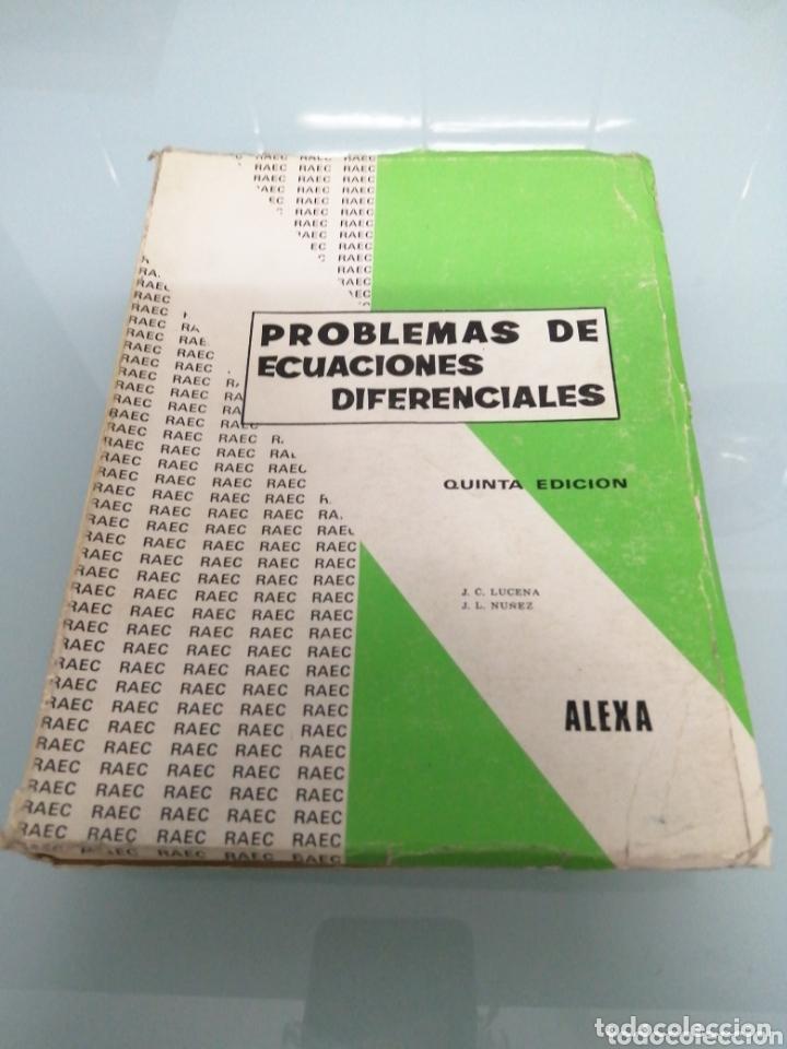 PROBLEMAS DE ECUACIONES DIFERENCIALES. LUCERNA. ALEXA. MADRID, 1971 (Libros de Segunda Mano - Ciencias, Manuales y Oficios - Física, Química y Matemáticas)