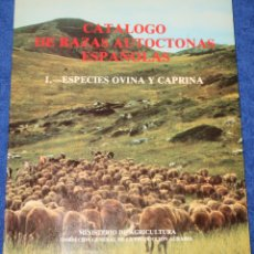 Libros de segunda mano: CATÁLOGO DE RAZAS AUTÓCTONAS DE ESPAÑA - ESPECIES OVINA Y CAPRINA (1980) ¡IMPECABLE!. Lote 172312910