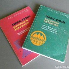 Livres d'occasion: GEOLOGÍA PROCESOS EXTERNOS. GEOLOGÍA PROCESOS INTERNOS. DOS LIBROS EN UN LOTE. EDITORIAL EDELVIVES. . Lote 172398704