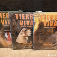Libros de segunda mano: TIERRA VIVA.....ANIMALES DEL MUNDO.....MAMIFEROS.....TRES TOMOS.....AUPPER. Lote 172460142