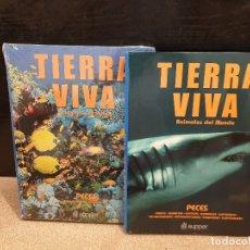 Livres d'occasion: TIERRA VIVA.....ANIMALES DEL MUNDO...PECES.......DOS TOMOS.....AUPPER. Lote 172462535