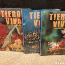 Livres d'occasion: TIERRA VIVA.....ANIMALES DEL MUNDO...IVERTEBRADOS....REPTILES Y ANFIBIOS......TRES TOMOS.....AUPPER. Lote 172463274