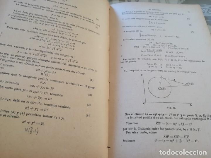 Libros de segunda mano de Ciencias: Elementos de Geometría Analítica y de Cálculo Infinitesimal - G. M. Bruño - no consta fecha - Foto 5 - 172637254
