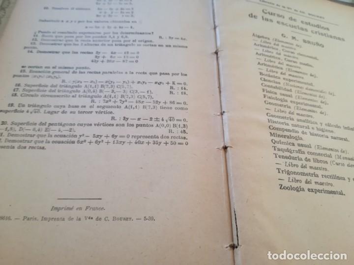 Libros de segunda mano de Ciencias: Elementos de Geometría Analítica y de Cálculo Infinitesimal - G. M. Bruño - no consta fecha - Foto 9 - 172637254