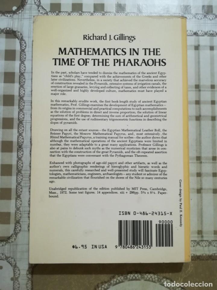 Libros de segunda mano de Ciencias: Mathematics in the time of the Pharaohs - Richard J. Gillings - en inglés - Foto 2 - 172710934
