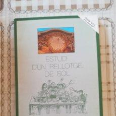 Libros de segunda mano de Ciencias: ESTUDI D'UN RELLOTGE DE SOL - ESCOLA BETÀNIA-PATMOS 3ER. BUP 1982-1983 - 1ª EDICIÓ 1985. Lote 172784280