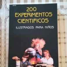 Libros de segunda mano de Ciencias: 200 EXPERIMENTOS CIENTÍFICOS ILUSTRADOS PARA NIÑOS - ROBERT J. BROWN. Lote 172785610