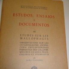 Libros de segunda mano: ETUDES SUR LES MALLOPHAGES - JOAO TENDEIRO 1958. Lote 173059902