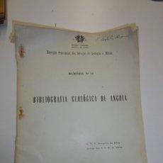Libros de segunda mano: BIBLIOGRAFÍA GEOLÓGICA DE ANGOLA - FERREIRA DA SILVA - LUANDA 1971. Lote 173060898