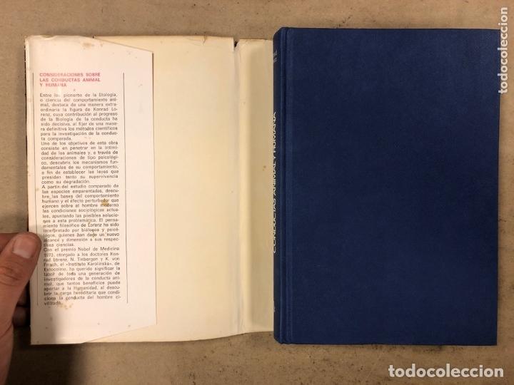 Libros de segunda mano: CONSIDERACIONES SOBRE LAS CONDUCTAS ANIMAL Y HUMANA. KONRAD LORENZ. PLAZA & JANÉS EDITORES 1976 - Foto 2 - 173198718