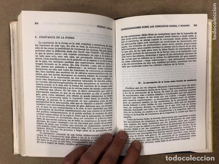 Libros de segunda mano: CONSIDERACIONES SOBRE LAS CONDUCTAS ANIMAL Y HUMANA. KONRAD LORENZ. PLAZA & JANÉS EDITORES 1976 - Foto 7 - 173198718