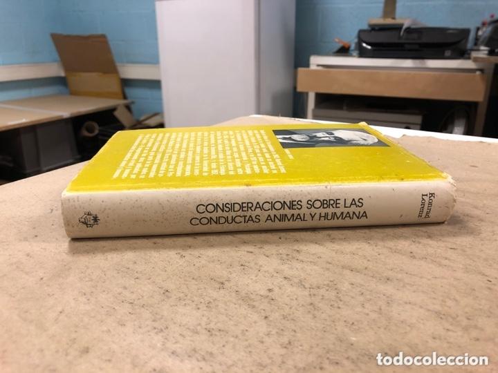 Libros de segunda mano: CONSIDERACIONES SOBRE LAS CONDUCTAS ANIMAL Y HUMANA. KONRAD LORENZ. PLAZA & JANÉS EDITORES 1976 - Foto 9 - 173198718