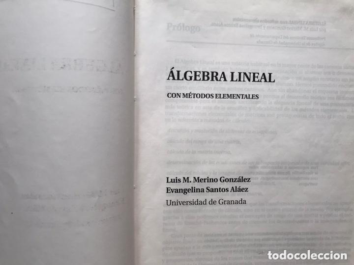 Libros de segunda mano de Ciencias: Álgebra lineal. L. Merino - Foto 2 - 173357479