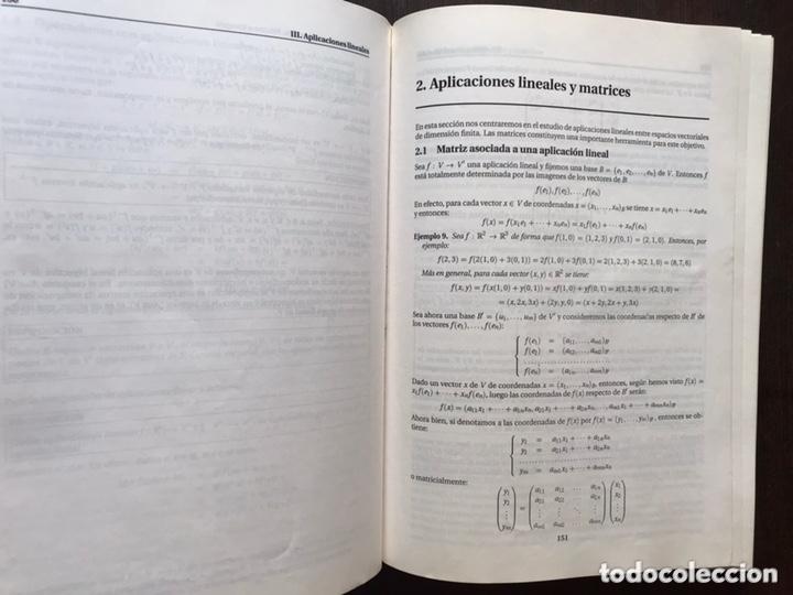 Libros de segunda mano de Ciencias: Álgebra lineal. L. Merino - Foto 7 - 173357479