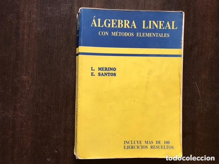 ÁLGEBRA LINEAL. L. MERINO (Libros de Segunda Mano - Ciencias, Manuales y Oficios - Física, Química y Matemáticas)