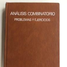 Libros de segunda mano de Ciencias: ANALISIS COMBINATORIO PROBLEMAS Y EJERCICIOS - DR. K. RIBNIKOV - EDITORIAL MIR MOSCÚ. Lote 173470913
