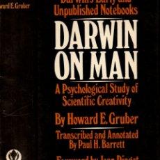 Libros de segunda mano: HOWARD GRUBER : DARWIN ON MAN (WILDWOOD, LONDON, 1974). Lote 173664135