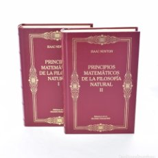 Libros de segunda mano de Ciencias: PRINCIPIOS MATEMÁTICOS DE LA FILOSOFÍA NATURAL, I-II (COMPLETO) - NEWTON, ISAAC. Lote 173886277