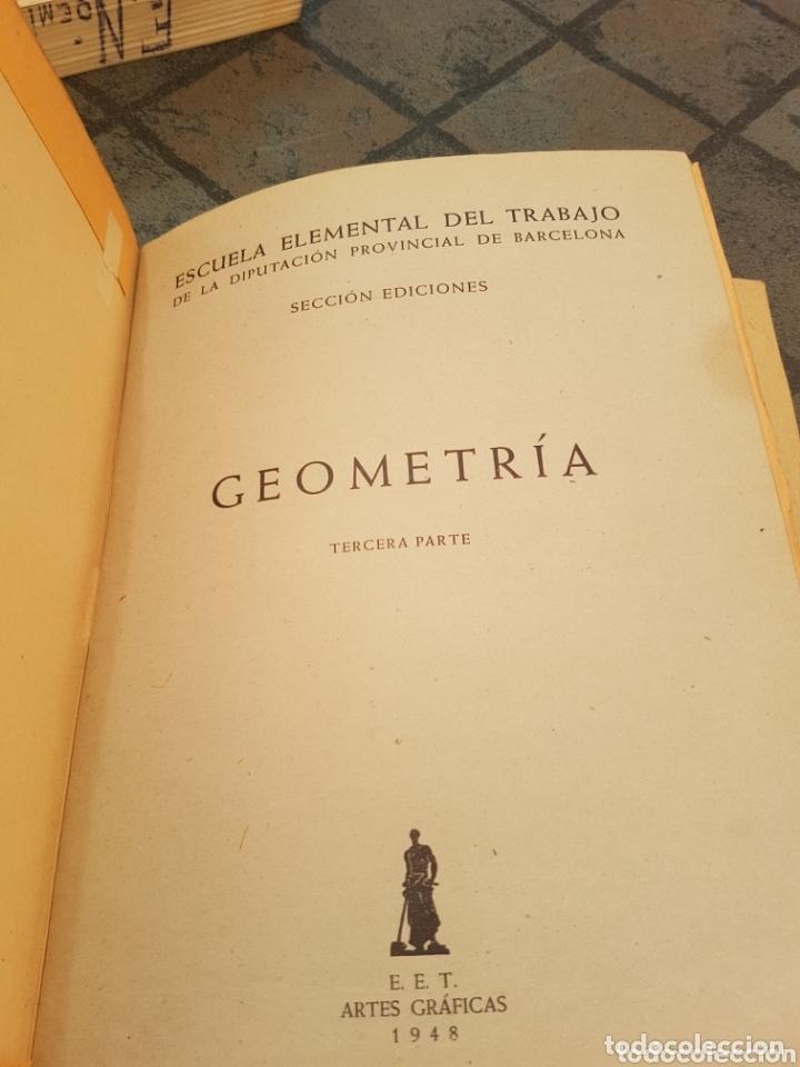 Libros de segunda mano de Ciencias: 4 tomos encuadernados de la escuela elemental del trabajo geometría - Foto 2 - 173907008