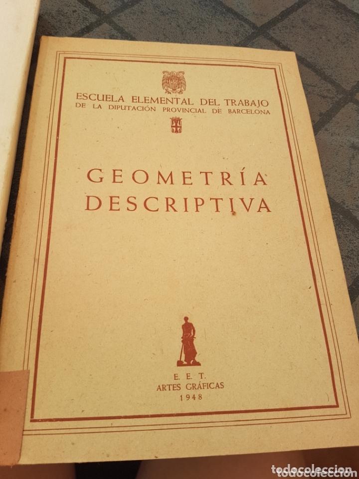 Libros de segunda mano de Ciencias: 4 tomos encuadernados de la escuela elemental del trabajo geometría - Foto 3 - 173907008