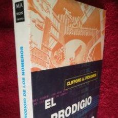 Libros de segunda mano de Ciencias: EL PRODIGIO DE LOS NÚMEROS DESAFÍOS PARADOJAS Y CURIOSIDADES MATEMÁTICAS CLIFFORD A. PICKOVER. Lote 173912802