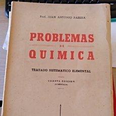 Libros de segunda mano de Ciencias: PROBLEMAS DE QUIMICA. TRATADO SISTEMATICO ELEMENTAL. - PARERA, JUAN ANTONIO.. Lote 173768914