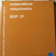 Libros de segunda mano de Ciencias: MATEMATICAS SOLUCIONARIO BUP 3º-.. Lote 173768714