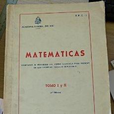 Libros de segunda mano de Ciencias: MATEMATICAS ADAPTADAS AL PROGRAMA DEL CURSO SELECTIVO PARA INGRESO EN LAS ESCUELA TECNICAS SUPERIORE. Lote 173761684