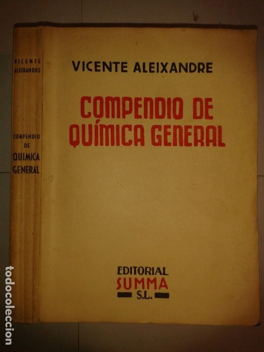 COMPENDIO DE QUÍMICA GENERAL 19?? VICENTE ALEIXANDRE EDITA SUMMA (Libros de Segunda Mano - Ciencias, Manuales y Oficios - Física, Química y Matemáticas)