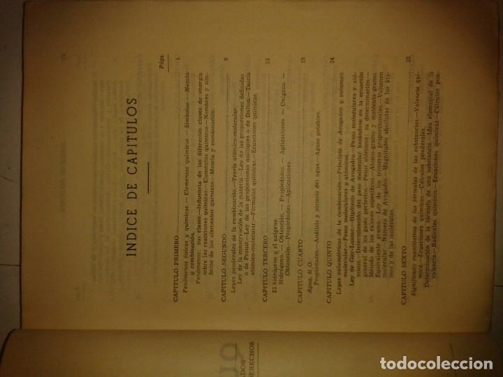 Libros de segunda mano de Ciencias: COMPENDIO DE QUÍMICA GENERAL 19?? VICENTE ALEIXANDRE EDITA SUMMA - Foto 3 - 174003817