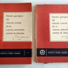 Libros de segunda mano: ESTUDIO GEOLÓGICO DEL REBORDE DE LA CUENCA CARBONÍFERA CENTRAL DE ASTURIAS. JOSÉ A. MARTÍNEZ ÁLVAREZ. Lote 174084262
