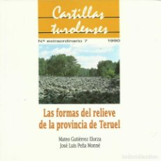 Libros de segunda mano: MATEO GUTIÉRREZ Y J. L. PEÑA : LAS FORMAS DEL RELIEVE DE LA PROVINCIA DE TERUEL. 66 P. + 6 DIAPOSITI. Lote 174497497