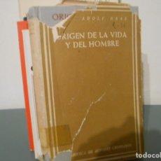 Libros de segunda mano: ORIGEN DE LA VIDA Y DEL HOMBRE - ADOLF HASS. Lote 174534169