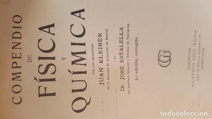 Libros de segunda mano de Ciencias: FISICA Y QUIMICA KLEIBER ESTALELLA - 13X19.CM - Foto 5 - 174650648