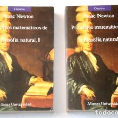 Libros de segunda mano de Ciencias: PRINCIPIOS MATEMÁTICOS DE LA FILOSOFÍA NATURAL 2T POR ISAAC NEWTON DE ALIANZA EDITORIAL, MADRID 1987. Lote 175243848