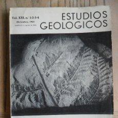 Libros de segunda mano: LOTE DE 3 REVISTAS ESTUDIOS GEOLÓGICOS. INSTITUTO LUCAS MALLADA. CSIC. 1965/1977. Lote 175320495