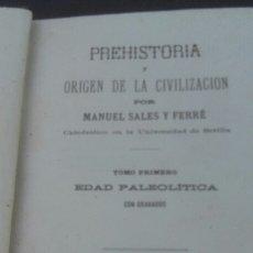 Libros de segunda mano: MANUEL SALES Y FERRER (1880). Lote 175474938