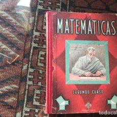 Libros de segunda mano de Ciencias: MATEMÁTICAS. SEGUNDO CURSO. EDELVIVES 1955. Lote 175519395