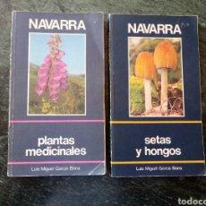 Libros de segunda mano: LIBROS: PLANTAS MEDICINALES Y SETAS Y HONGOS DE NAVARRA. CAN CAJA DE AHORROS. Lote 175674510