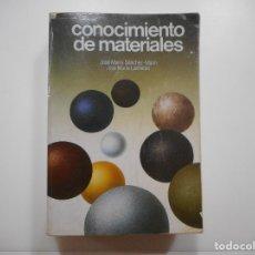 Libros de segunda mano de Ciencias: CONOCIMIENTO DE MATERIALES Y95891. Lote 175758445