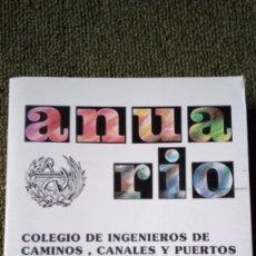 Libros de segunda mano de Ciencias: ANUARIO, COLEGIO DE INGENIEROS DE CAMINOS, CANALES Y PUERTOS. AÑO 88. Lote 176009123