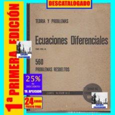 Libros de segunda mano de Ciencias: ECUACIONES DIFERENCIALES - TEORÍA Y 560 PROBLEMAS RESUELTOS - FRANK AYRES JR. - MC GRAW HILL 1969. Lote 176069873