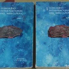 Libros de segunda mano: IER CONGRESO INTERNACIONAL DEL MERCURIO, 2 TOMOS. BARCELONA, 1974. Lote 176293952