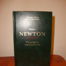Libros de segunda mano de Ciencias: PRINCIPIOS MATEMÁTICOS - ISAAC NEWTON - ALTAYA, MUY BUEN ESTADO. Lote 176294385