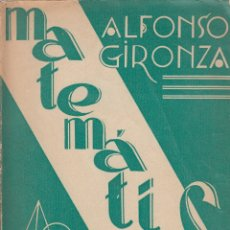 Libros de segunda mano de Ciencias: 0031767 MATEMÁTICAS TERCER CURSO / ALFONSO GIRONZA. Lote 176306810