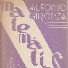Libros de segunda mano de Ciencias: 0031768 MATEMÁTICAS CUARTO CURSO / ALFONSO GIRONZA. Lote 176307027