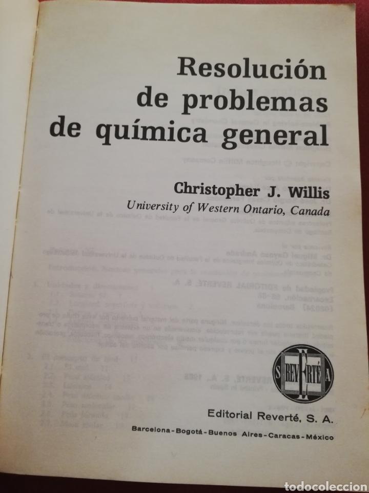 Libros de segunda mano de Ciencias: RESOLUCIÓN DE PROBLEMAS DE QUÍMICA GENERAL (WILLIS) REVERTÉ - Foto 2 - 176434913